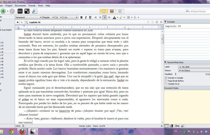 Traducción de Scrivener